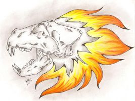 Lion Skull Tattoo Redesign 2 by Crymson-Rayne
