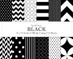 Digital Scrapbook Paper - Basic Patterns 'Black' by LadySprinkles