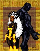 BLACK PANTER AND STORM by Rene-L