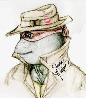 Raph and his Fedora by tmntart