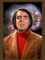 Carl Sagan by cautionstudio