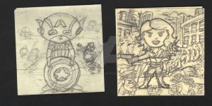 Lil'Ones_cap_widow_wip_pencils pt.1 by imonsterfyu