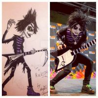Cartoon vs Real Johnny Reaper by angie2d