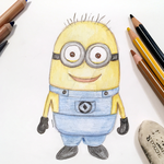Minions Sketched and Colored by anwaarsaleh