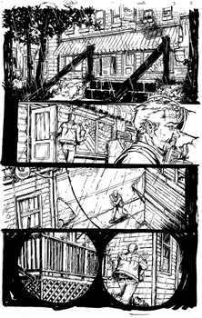 Werewolf Run issue 3 pg 5 BW by Danielleister