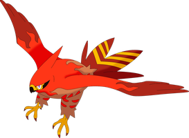 Flame Riser the Shiny Talonflame by kasanelover
