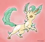Leafeon - Coloured Lineart by Brightclaw1