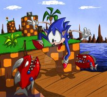 Sonic's First day by tripplejaz