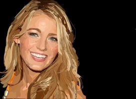 Blake Lively Rotoscope Drawing by JadeBeloved