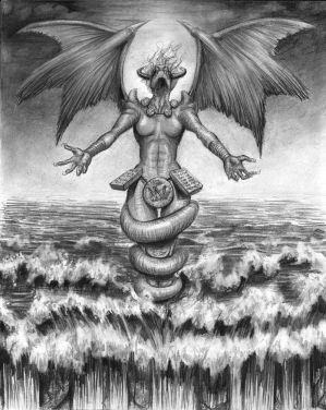 Tiamat, sea goddess