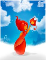 Flame princess and Flambo (Adventure time) by Adnilustra