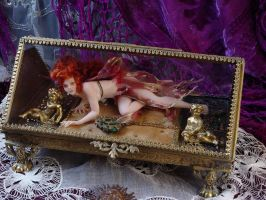 Fairy in glass casket box by SutherlandArt