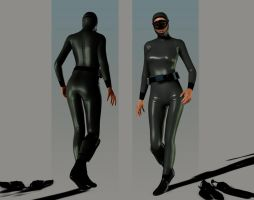 Hooded wetsuit  next stage by bakerfield3