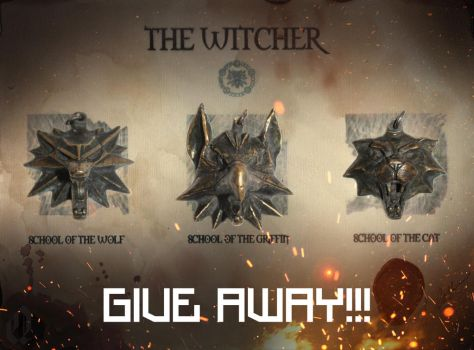 The witcher Medallion - GIVE AWAY by Quellart