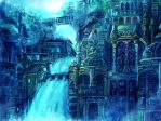Water fantasy city by Gold-copper