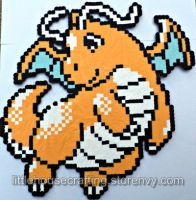 Huge Dragonite Perler by Tharidra