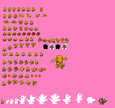 Agumon Sprites Remade by electrivire98