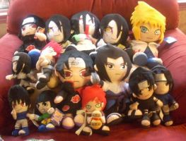 Naruto plushies by cowcat44