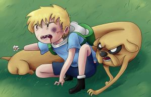 Finn and Jake by izzy1992