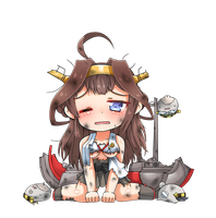 Kongou Chibi Damaged Version by GreenTeaNeko