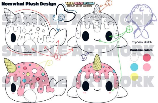 TPS: Nomwhal Plush Design Sheet by MoogleGurl