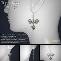 Free 3D Model: Mystic Knot Earrings by LuxXeon