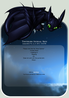 Toothless Journal Skin by NeonStryker