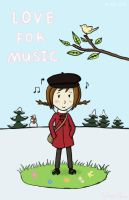 I love my music by Silver1bow