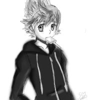 Roxas Sketch by ss2sonic