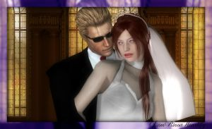 The Angel and The God (Wedding photo 1) by IamRinoaHeartilly