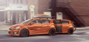 Chevrolet All New Aveo with trailer by idhuy