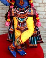 Paper Quilled 3D Lord Krishna-Lower part view by VaishaliRastogi