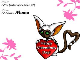 Momo V-Day Card by Goddess-Of-Sugar
