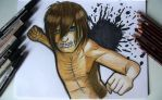 Cosplay eren drawing by pitchblack1994