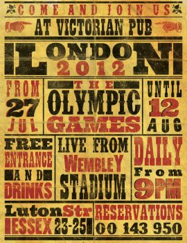 Vintage Olympics Poster/Flyer by ZamfirAugustin