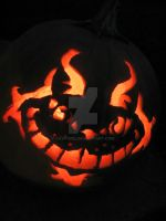 Cheshire Cat Pumpkin by cavygirl