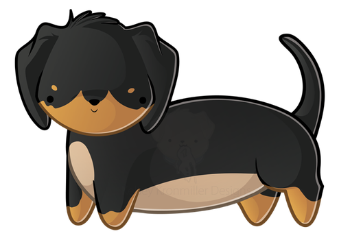 Short-haired Dachshund by KelseyKDesigns