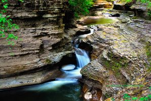 Buttermilk falls 3 HDR by pjs15204