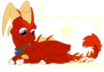 Chibi Frida Welcome page :D by DragbaX