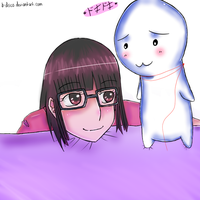 noshi on my bed by b-disco