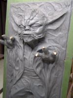 Yoda in Carbonite Final by FUVL