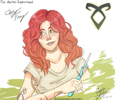 Clary Fray: The Mortal Instrument by BlackWolfQueen