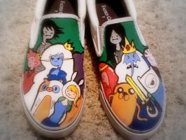 my adventure time shoes! by samelsr