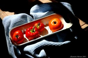 Peppers and tomatos II by Sweetbellaroe