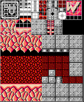 8-Bit Tiles for a Megaman hack by Thanatos-Zero