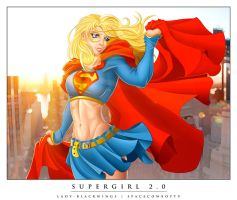 Supergirl 2.0 w Lady-Blackwings by Spacecowboytv