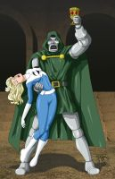 Dr. Doom Captures Sue Storm by BobKO