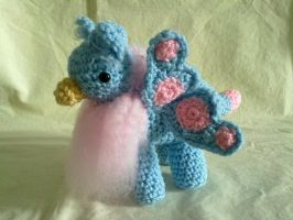 Blue and Pink Butterfly Gryphon by hollyann