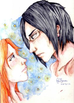 Ishida and Orihime together forever by Nyxya13