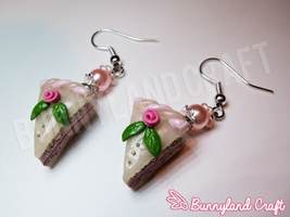 Fimo cake with roses #2 by BunnyLandCraft